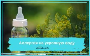 Аллергия на укропную воду
