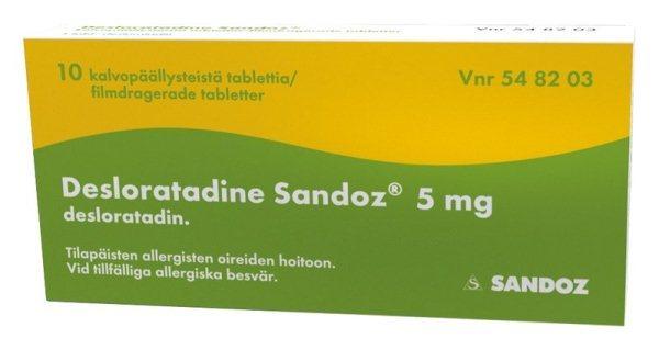 Препараты от аллергии 4 поколения
