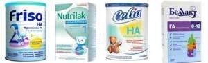 Аллергия на смеси чем кормить