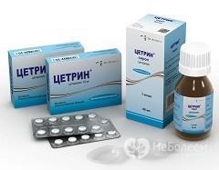 Таблетки от аллергии цетиризин