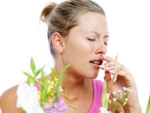 При аллергии может быть кашель